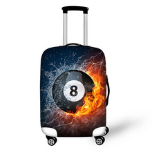 Prevent the impact to prevent scratches Ball Ice Fire pattern luggage case travel must be soft and durable non-slip