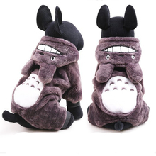Free shipping Fashion Totoro Dog Hoodies animal cosplay pet clothes for Small and Large pet Dog Clothes dog coats for chihuahua(China)