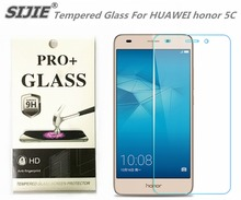 SIJIE Tempered Glass For HUAWEI honor 5C 0.26mm Screen Protector front stronger 9H hardness thin discount with Retail Package