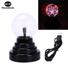 "Kid Fun 3"" USB Plasma Ball Magic Lightning Ball Sphere Light Up Toys Luminous Toy For Children Gift Suit Party & Car Decoration"