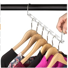 1pc metal Wall Hook Coat Bag Hat Hanger Robe Hooks Magic Hangers Closet Space Saving Wardrobe Clothing Hanger Oragnizer