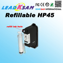 1x Refillable ink cartridge for hp45 51645A for hp 45 CAD Graph plotter Graph plotter for HP1280 1180(China)