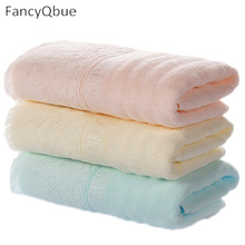 2017 New Hand Towel Cotton Towels Solid Embroidered Tassel Towel Gift Breathable Quick Dry Towels Bathroom 34*75cm(China)