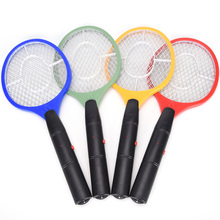 3 Layers Net Dry Cell Hand Racket Electric Swatter Home Garden Pest Control Insect Bug Bat Wasp Zapper Fly Mosquito Killer(China)