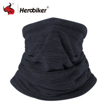HEROBIKER Motorcycle Mask Motorbike Neck Warmer Winter Thermal Fleece Balaclava Hat Hood Moto Riding Mask Black(China)