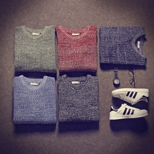Pullover Men Knitted Slim Sweater  2016 New Fashion Winter  Christmas Jumper Mens Casual  Round-neck Sweaters Hombre 5xl