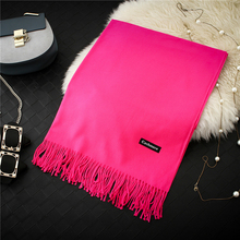 2017 Winter Women Scarf Female Luxury Brand Scarves Fashion Lady Tassel Soft Bandana Shawl Tippet Pashmina Cashmere Foulard(China)