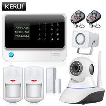 WiFi Alarme Maison Wireless GSM Home Security Alarm System IOS Android Control With IP Camera support language switch