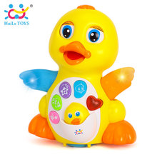 HUILE TOYS 808 Baby Toys EQ Flapping Yellow Duck Infant Brinquedos Bebe Electrical Universal Toy for Children Kids 1-3 years old(China)