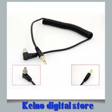 PC-3.5mm 3.5 mm Male PC Sync Flash Cable Camera PC Line 20-100cm Free Shipping