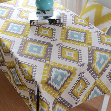 Stylish Art DiningTable Cover Cloth Scandinavian Geometry Cotton Lnen Tablecloth Table Cloth Can Be Customized wholesale