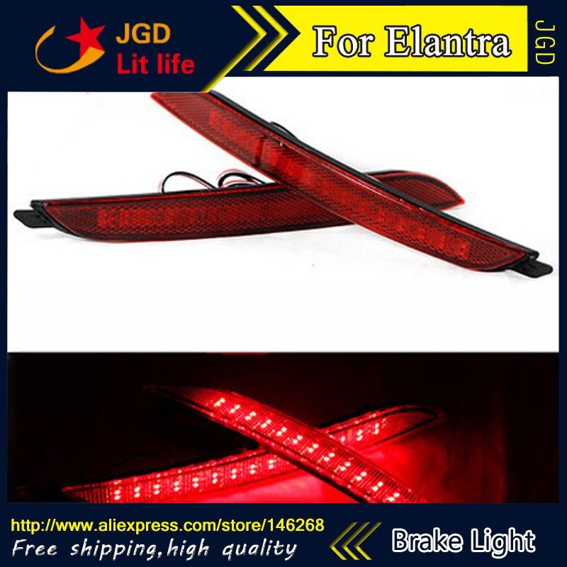 Free shipping Tail light parking warning rear bumper reflector for Hyundai Elantra 2012 2013 Car styling<br>