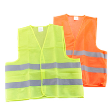 Free Shipping Visibility Security Safety Vest Jacket Reflective Strips Work Wear Uniforms Clothing(China)