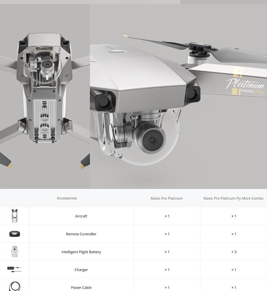 DJI Mavic Pro Platinum Fly More Combo & dji mavic pro quadcopter 12 mil. 4K HD Video Recording drone 7 KM Remote Control 30 mins_08