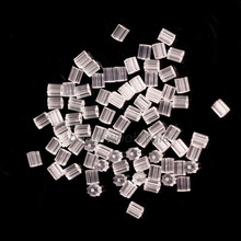 500pcs Rubber Clear Earring Back Stoppers Ear Post Nuts Tube Jewelry Findings(China)
