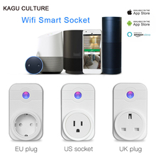 Smart Wireless WiFi Socket Timing Switch Remote Control power Adapter EU US UK Smart Plug outlet For iphone ipad Android Phone(China)