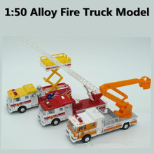 1:50 alloy engineering vehicles, high simulation model of fire truck model  ,children's educational toys, free shipping