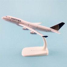 Air United Airlines B747 Boeing 747 Airways 16cm Metal Aircraft Plane Model Airplane Model w Stand Kids Gift(China)