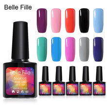 BELLE FILLE 10ml Soak Off Gel Polish UV Gel Nice Color Nail Polish Pick Any 6 Color Long-Lasting Nail Art Gel Nail Polish