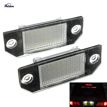 2Pcs No Error LED Number License Plate Light Lamp For Ford Focus MK2/C-Max MK1(China)