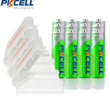 12 Pieces PKCELL Cycles1200times Pre-charged NIMH 1.2V 850mAh AAA Rechargeable Battery and 3Pcs Battery Holder BOX(China)