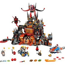 SY801 Nexo Knights Axl Jestros Volcano Lair Combination Marvel Building Blocks Kits Toys Compatible 14019 Nexus - Shop2881281 Store store
