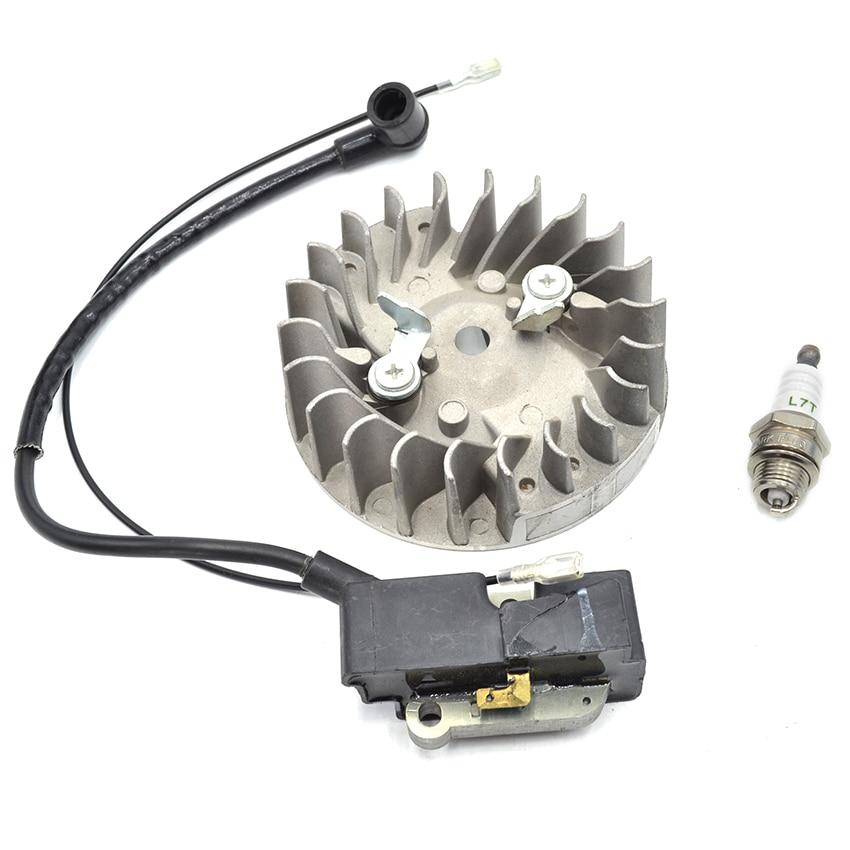 Ignition Coil Flywheel Spark Plug Kit For Husqvarna 340 345 346 350 351 353 357 359 362 365 371 372 385 390 Chainsaw<br>