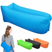 2017 Update Fast Inflatable Lazy bag laybag Sleeping Bag Leisure Hang out Lounger Air Camping Sofa Beach Nylon Fabric Hammock