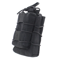 MOLLE Tactical Open Top Double Decker Single Rifle Pistol Magazine Pouch Cartridge Clip Pouch Airsoft Hunting Pouch Molle Black