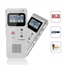 New Best Quality 8GB Mini Digital Audio Voice Recorder Dictaphone MP3 Player Recording Pen Recorder Pen Rechargeable