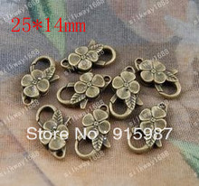 Sweet Bell 50PCS/lot  25*14mm lobster clasp buckle bag buckle design restoring  lobster clasp  accessories wholesale