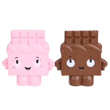 1PC Squishy Bread with Chocolate Kids Girl Kawaii Novelty Toy Cute Charm Phone Straps Super Slow Rising Cake Kids Toys Gift