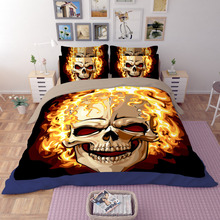 Skull comforte bedding sets twin queen king size  fire indian comforter style quilts duvet cover 3/4pcs black bedspreads