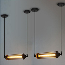 Vintage Light Bulb Retro Industrial Edison 1 Light Metal Shade Ceiling Pendant Lamp Fixture Black With bulbs