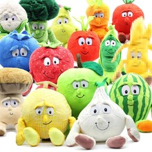 "Multiple Styles Selected New Fruits Vegetables cauliflower Mushroom blueberry Starwberry 9"" Soft Plush Doll Toy Object photo(China)"