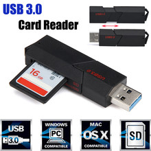 Universal Card Reader 2in1 USB 3.0 High Speed For Micro SD SDXC T-Flash TF Memory Card Reader Adapter Wholesale Hot Sale # 20