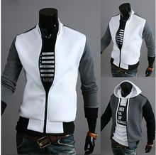 2016 Brand clothing collar striped coat stitching Men's casual design jacket Baseball Jersey jacket Free shipping