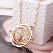 Hot Sell Harry time turner Potter necklace hourglass vintage pendant Hermione Granger for women lady girl wholesale(China)