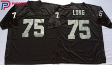 Embroidered Logo Howie Long 75 white black Throwback high school FOOTBALL JERSEY for fans gift cheap 1108-5(China)