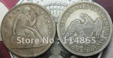 1859-O Seated Liberty Silver Dollar Coin COPY FREE SHIPPING(China)