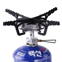 Camping Gas Stove Head Outdoor Picnic Cook Gas Butane Propane Burners Mini BBQ Furnace Cookware(China)