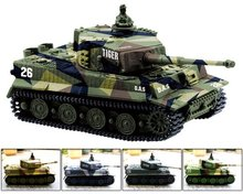 Greatwall 1:72 Radio Remote Control Mini Rc German Military Tiger Tank with Sound Toys(Vary Colors)