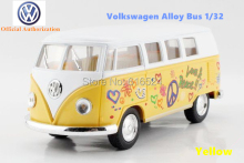 Kinsmart toys Brand New Volkswagen Classical Bus Diecast 1/32 large Alloy car model by Soft-World Classic Pull Back Open Door