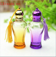 Free Shipping 10ml Purple Pink Yellow Blue Glass Empty Perfume Roll on Bottles Top Grade Refillable Originales Pack Containers