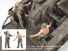 Free Shipping 1/35 Scale Unpainted Resin Figure U.S M40 CREW (JUST 2 FIGURES)