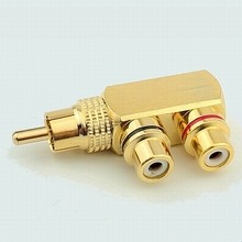 Pure copper RCA connector Audio and video tee connector RCA male to female AV socket connector adapter plugs
