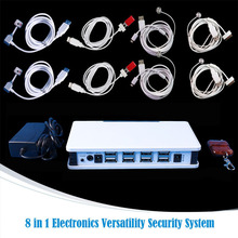 8 in 1 tablet pc and phone security display alarm system for electronics shop anti-theft sale+EMS/DHL free(China)