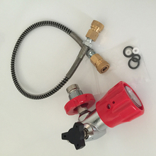 2017New products High quality and Competitive Price HP Air Tank Paintball SCUBA Filling Station Refill Adapter Valve Connector-S