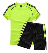 2018 NEW Football SET Sports Clothes Set Uniforms Children Clothing Sets Boys Jerseys Soccer T Shirts + Shorts Kids Girl 2s171(China)