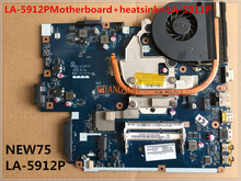 LA-5912PMotherboard+heatsink=LA-5911P  Laptop Motherboard For ACER 5551G 5552 5552G 555 NEW75 LA-5912P Tested perfect working
